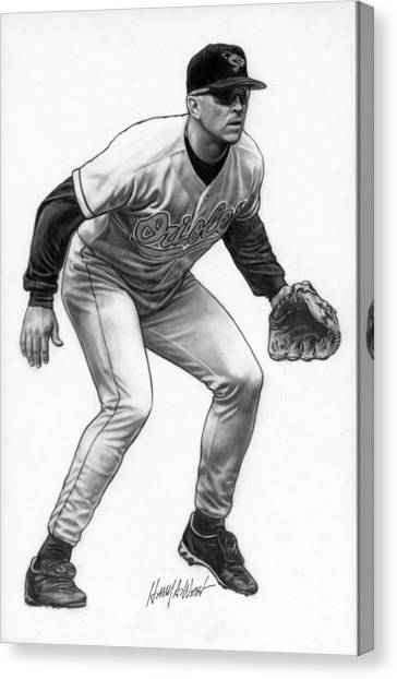 Baltimore Orioles Canvas Print - Cal Ripken by Harry West