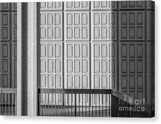 Big West Canvas Print - Cal State Northridge Oviatt Library Detail  by University Icons