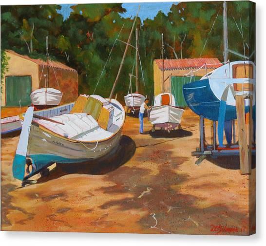 Cala Figuera Boatyard - I Canvas Print