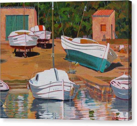 Cala Figuera Boatyard - II Canvas Print