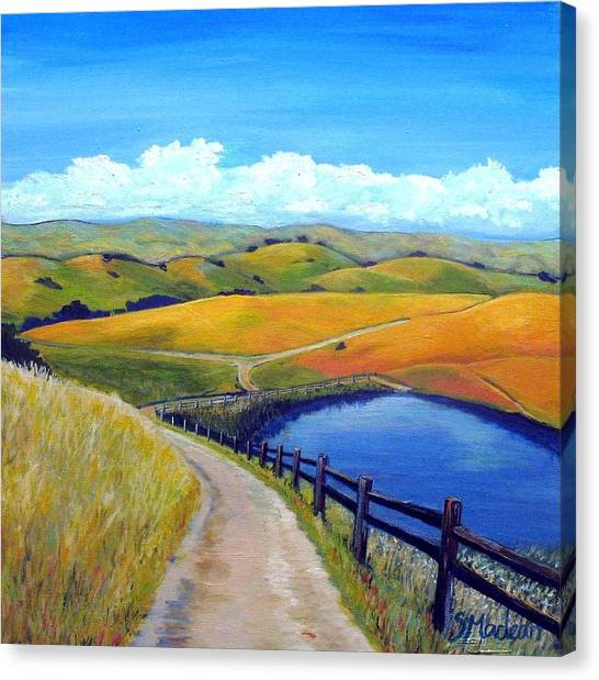 Calero Pond Canvas Print by Stephanie  Maclean