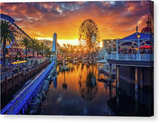 Calfornia Sunset Canvas Print