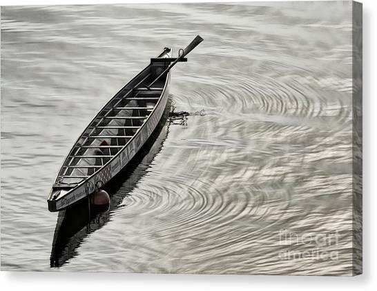 Canvas Print featuring the photograph Calgary Dragon Boat by Brad Allen Fine Art