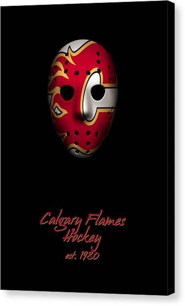 Calgary Flames Canvas Print - Calgary Flames Established by Joe Hamilton
