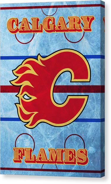 Calgary Flames Canvas Print - Calgary Flames Poster by Ky McLachlin