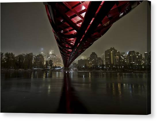 Alberta Canvas Print - Calgary Peace Bridge by Helder Martins