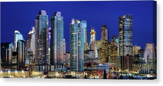 Calgary's Blue Hour Canvas Print