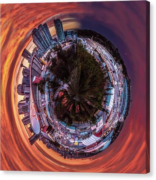 Calgary Flames Canvas Print - Calgary's Fireball by Jane Dobbs