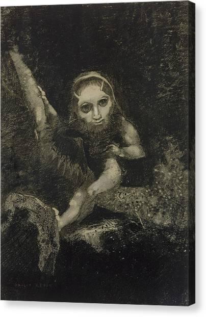 Shakespeare Canvas Print - Caliban by Odilon Redon
