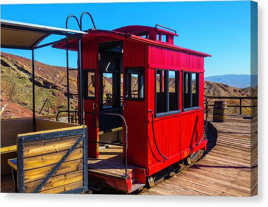 Caboose Canvas Print - Calico Caboose by Garry Gay