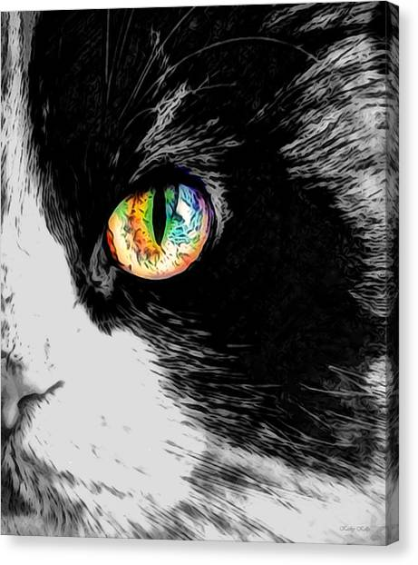 Calico Cat With A Splash Canvas Print