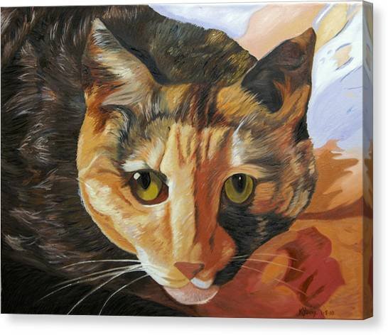 Calico Canvas Print by Kenneth Young