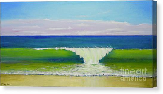 Canvas Print featuring the painting Califia Beach by Mary Scott