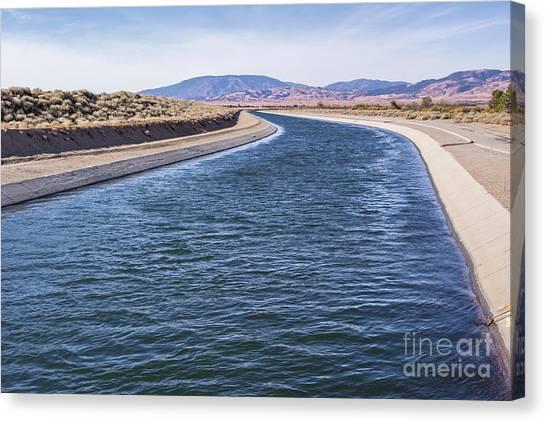 California Aqueduct S Curves Canvas Print
