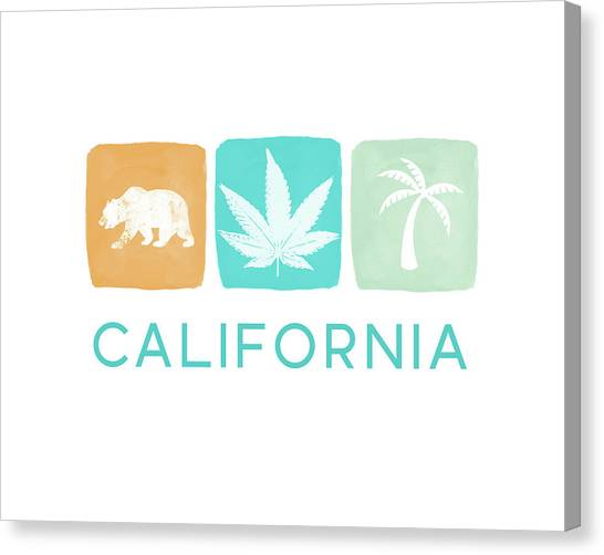 Marijuana Canvas Print - California Cannabis- Art By Linda Woods by Linda Woods