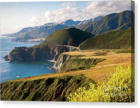 California Coast -  A View Of Bixby Ap Canvas Print by Dan Carmichael