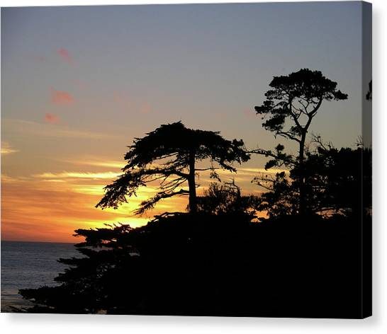 California Coastal Sunset Canvas Print