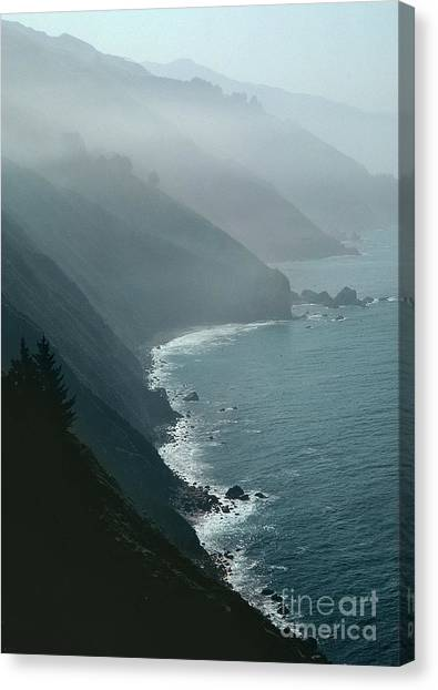 Gray Canvas Print - California Coastline by Unknown