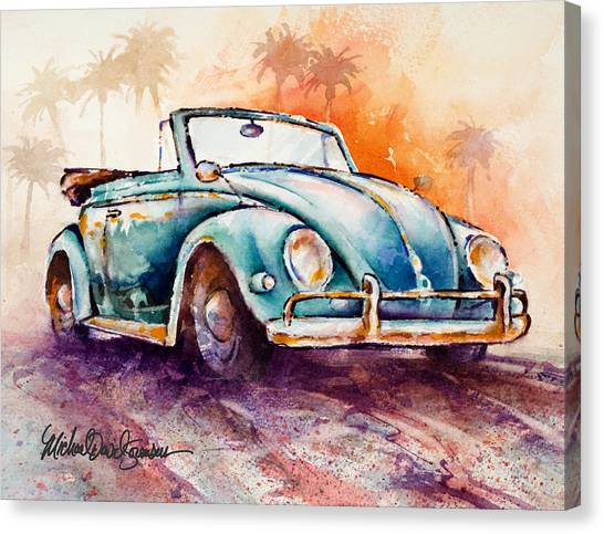 California Convertible Canvas Print by Michael David Sorensen