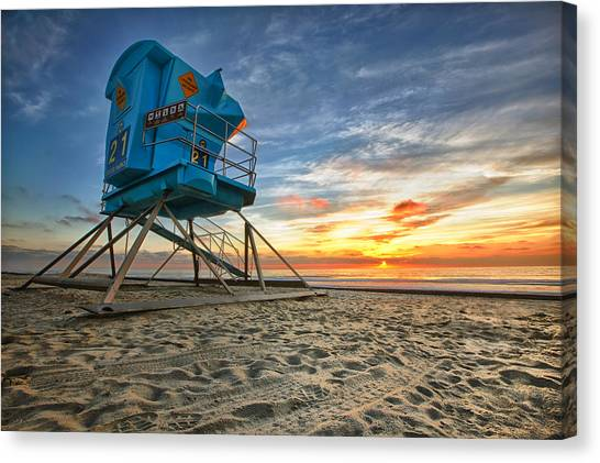 Lifeguard Canvas Print - California Dreaming by Larry Marshall