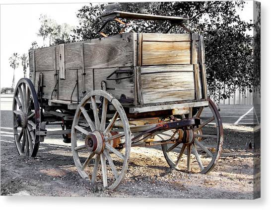 California Farm Wagon Canvas Print