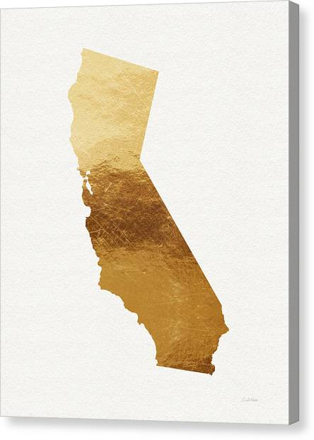Santa Monica Canvas Print - California Gold- Art By Linda Woods by Linda Woods
