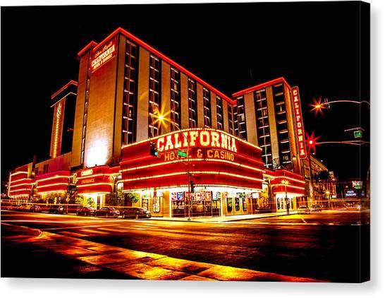 Neon Canvas Print - California Hotel by Az Jackson