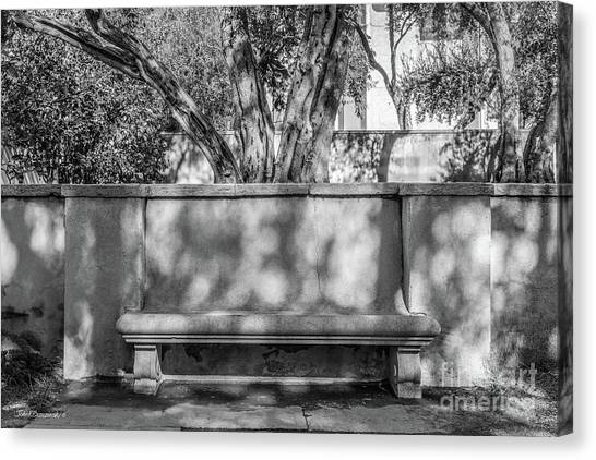California Institute Of Technology Bench Canvas Print by University Icons