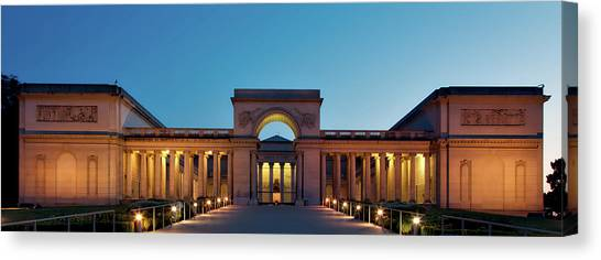 The Legion Canvas Print - California Palace Of The Legion Of Honor At Dusk by Mountain Dreams