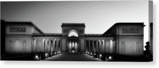 The Legion Canvas Print - California Palace Of The Legion Of Honor At Sunset by Mountain Dreams