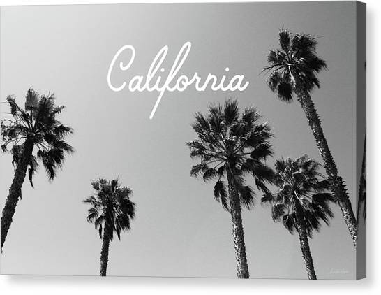 Los Angeles California Canvas Print - California Palm Trees By Linda Woods by Linda Woods