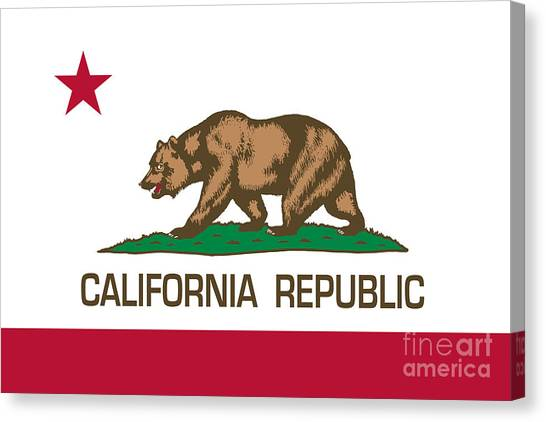 California Republic State Flag Authentic Version Canvas Print