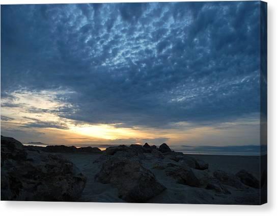 California Rocky Beach Sunset  Canvas Print