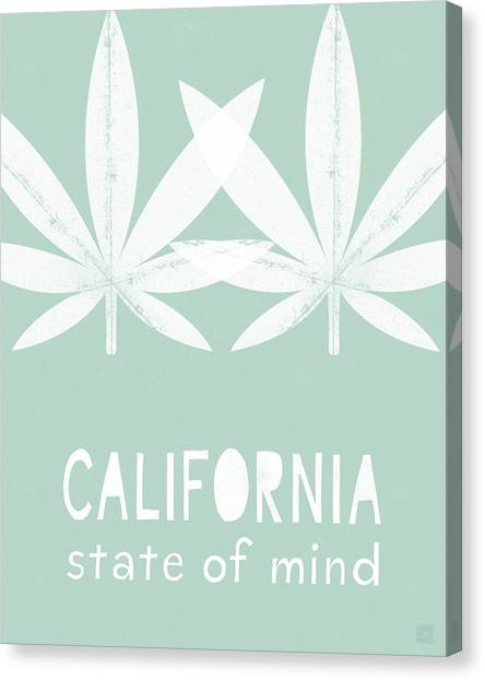 Marijuana Canvas Print - California State Of Mind- Art By Linda Woods by Linda Woods