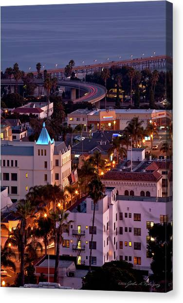 California Street At Ventura California Canvas Print