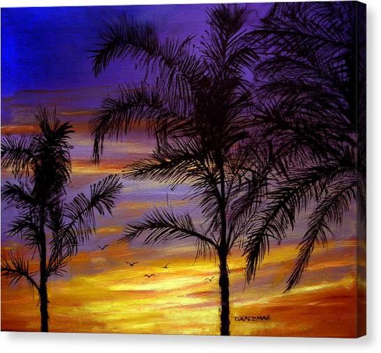 California Sunset Canvas Print by Olga Kaczmar