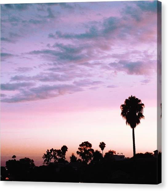 Santa Monica Canvas Print - California Sunset by Robert Ceccon