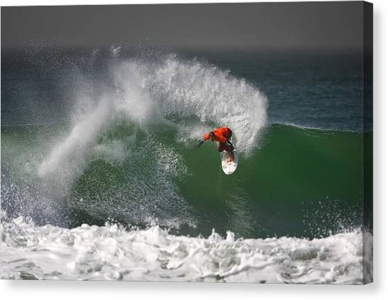 Surfers Canvas Print - California Surfing 2 by Larry Marshall