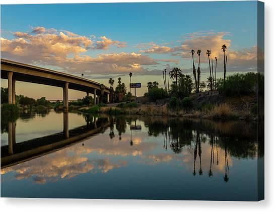 California To Arizona Canvas Print