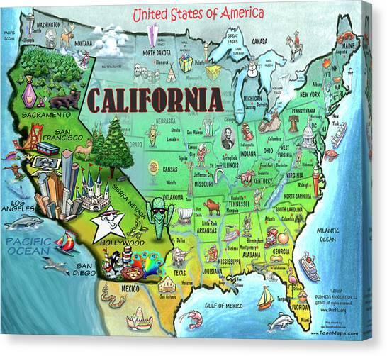 California Usa Canvas Print