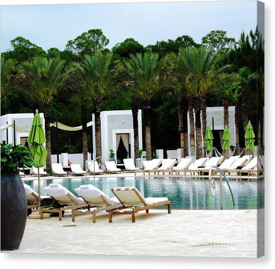 Canvas Print - Caliza Pool In Alys Beach by Megan Cohen