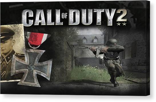 Call Of Duty Canvas Print - Call Of Duty 2 by Barbara Elvins