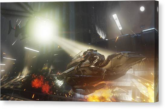 Call Of Duty Canvas Print - Call Of Duty Advanced Warfare by Angie Fraley