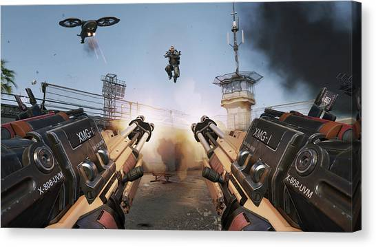 Call Of Duty Canvas Print - Call Of Duty Advanced Warfare by Dorothy Binder