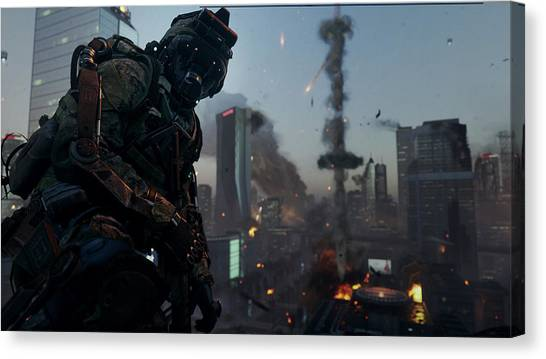 Call Of Duty Canvas Print - Call Of Duty Advanced Warfare by Eloisa Mannion