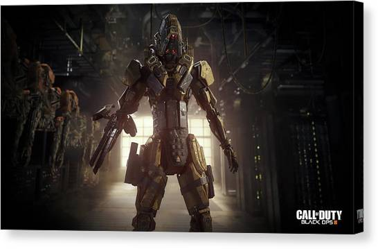 Call Of Duty Canvas Print - Call Of Duty Black Ops IIi by Barbara Elvins