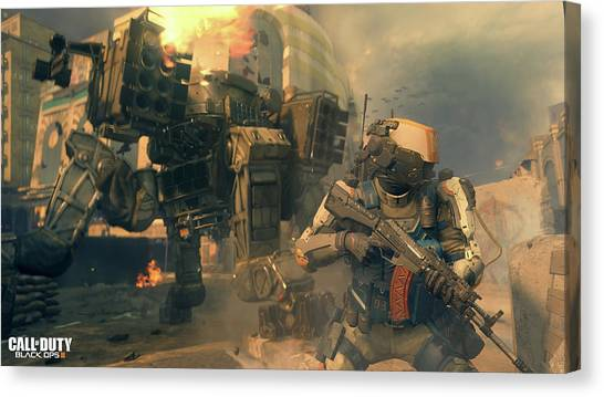 Call Of Duty Canvas Print - Call Of Duty Black Ops IIi by Dorothy Binder