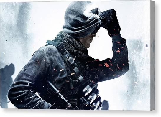 Call Of Duty Canvas Print - Call Of Duty Ghosts Game by Rose Lynn