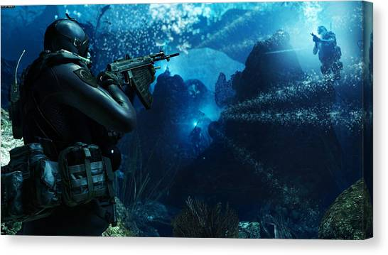 Call Of Duty Canvas Print - Call Of Duty Ghosts by Lonna Egleston