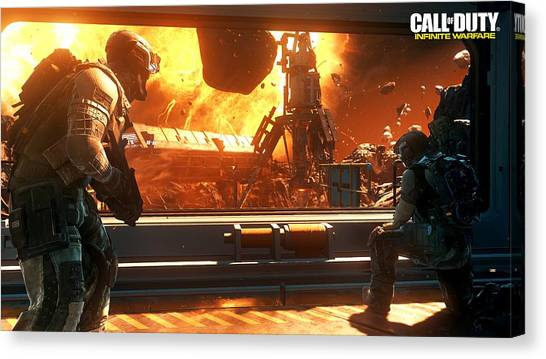 Call Of Duty Canvas Print - Call Of Duty Infinite Warfare by Eloisa Mannion
